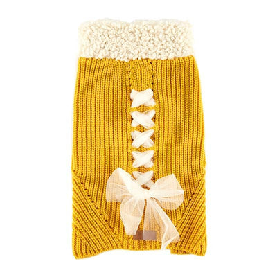 Debutante Princess Ribbon Sweater for dogs, dog clothes, dogs clothes, dog clothing, small dog clothes, dogs clothing, dog clothes female, dogs clothes boy, Dogs Clothes For Small To Medium Dog, UF Bemo, BowWow Shop - Top Dog Outfits Store