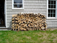 Firewood Against House Fire Risk