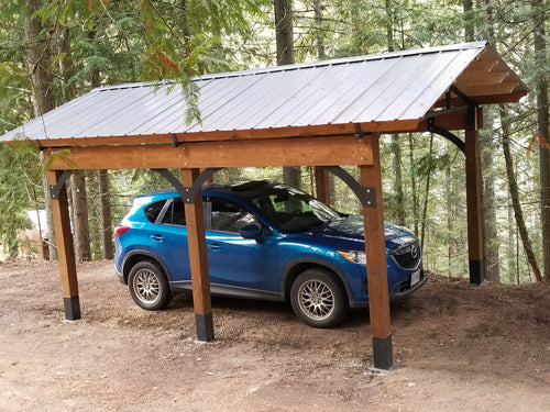 Steel & Wood Carport
