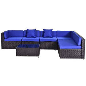 Outdoor Sofa Sectional Set & Tea Table