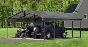 Steel Carport by Arrow 20 Foot Wide Truss