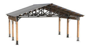 20 Wide Steel & Wood Kootenay Carport