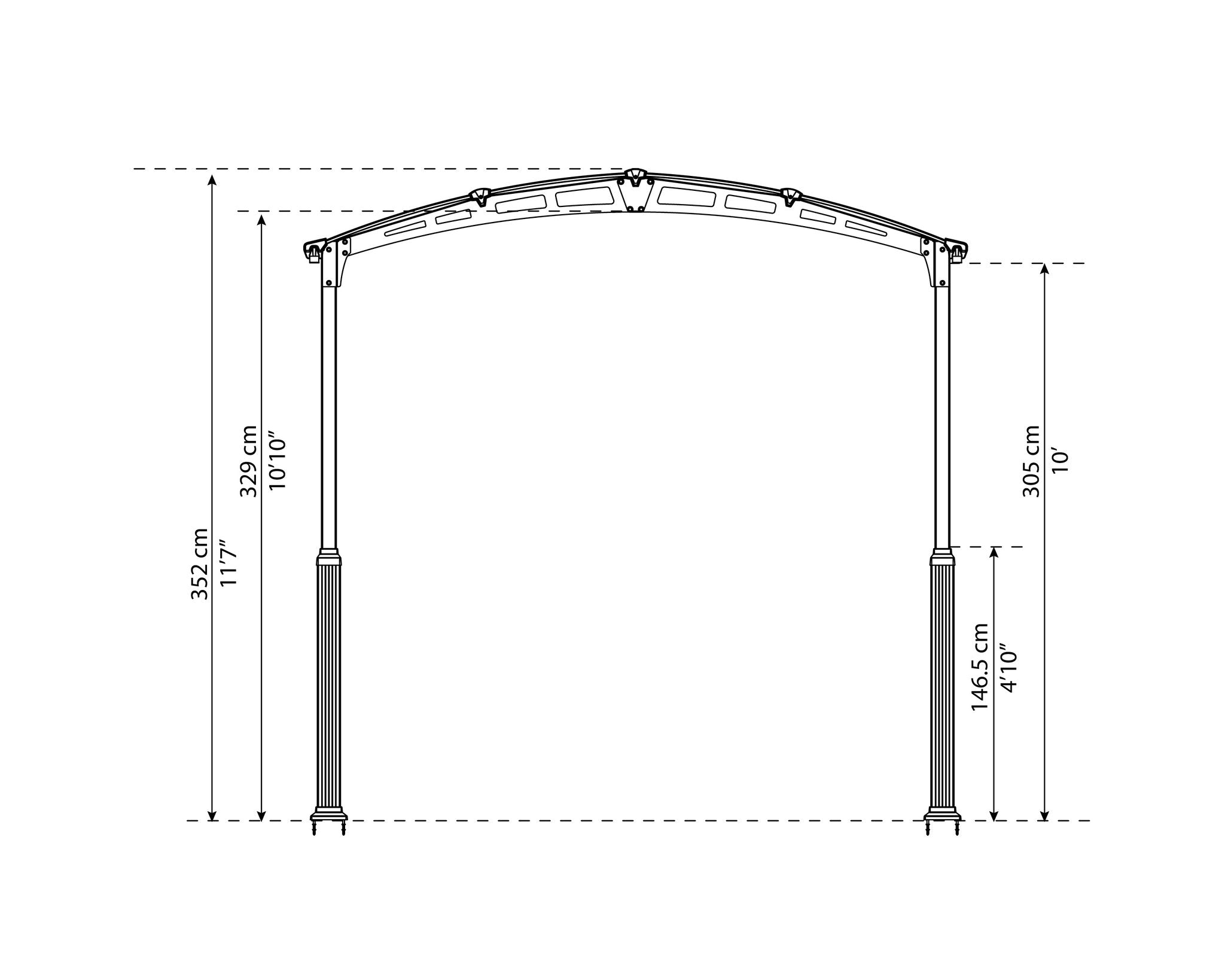 Arcadia Carport Leg Roof Height Elevation Kit – Grizzly ...