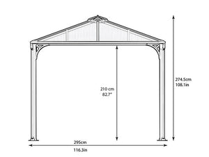 Martinique Rectangle Gazebo