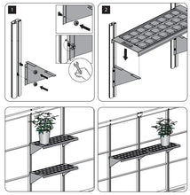 Plastic Double Greenhouse Shelf