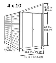 Steel Storage Shed Pent Roof