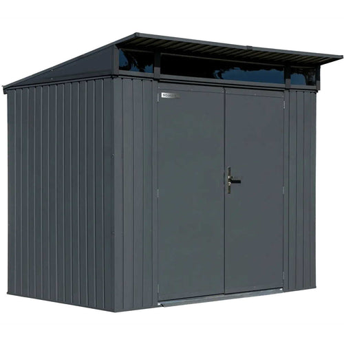 Steel Storage Shed, 8 ft. x 5 ft. Anthracite