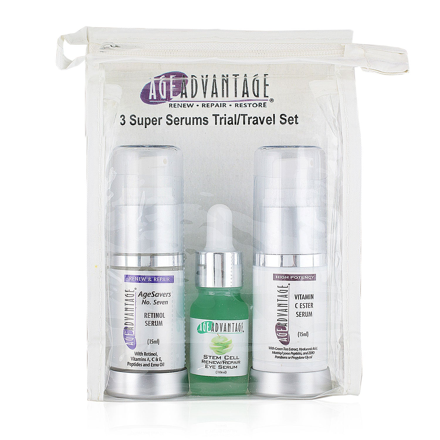 3 Super Serums Trial/Travel Set