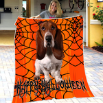 Basset Spider Fleece Blanket