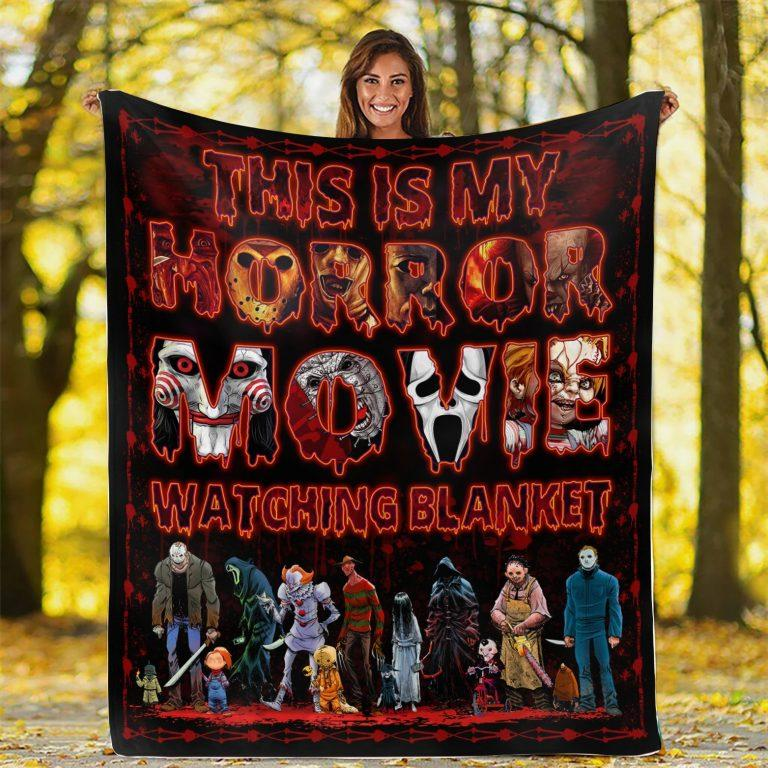 This Is My Horror Movie Watching Fleece Blanket