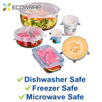 ECOWRAP™ Antibacterial Eco-friendly Reusable Stretch Food Covers (6PCS/Pack)
