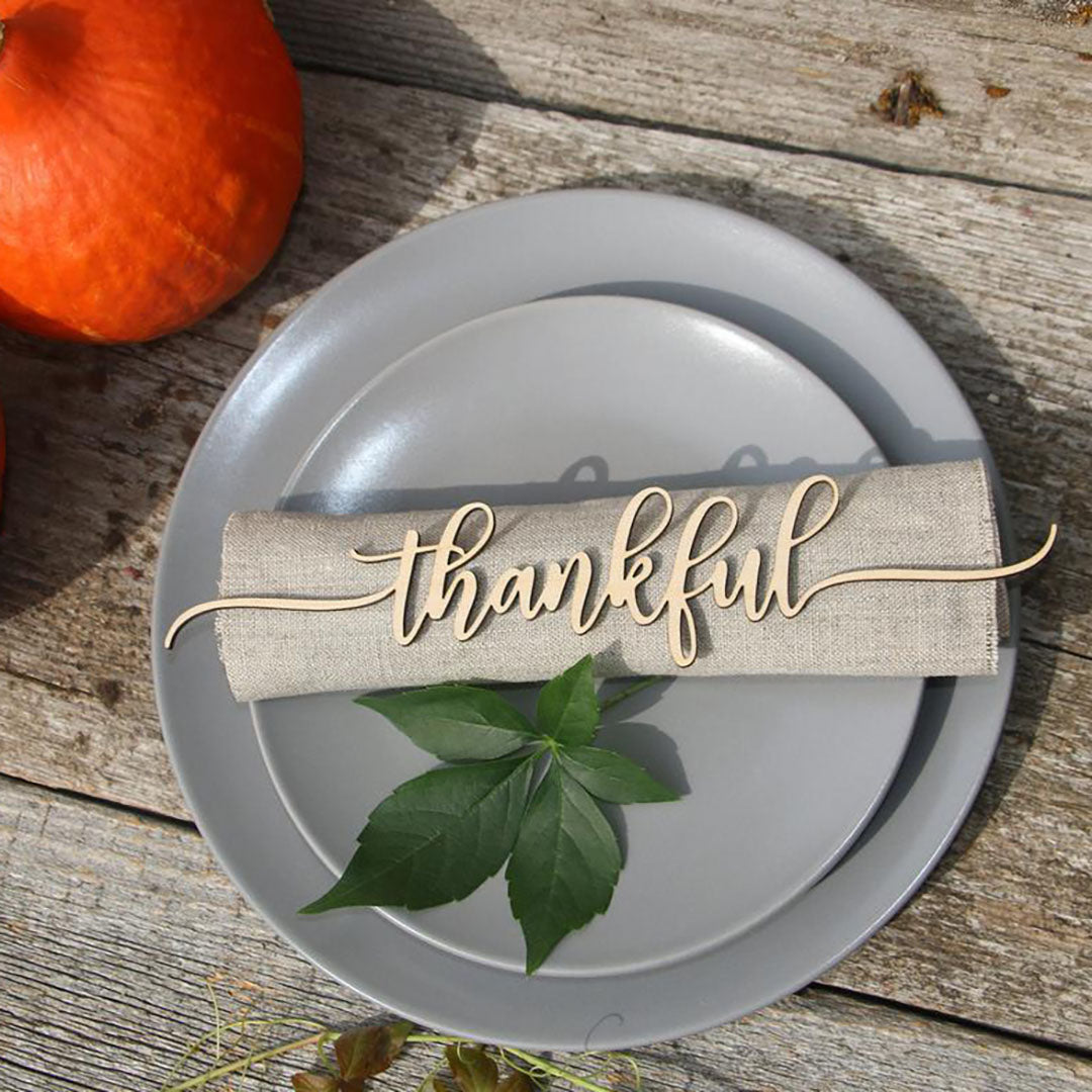 Table Decor for Holidays - Thankful, Grateful & Blessed