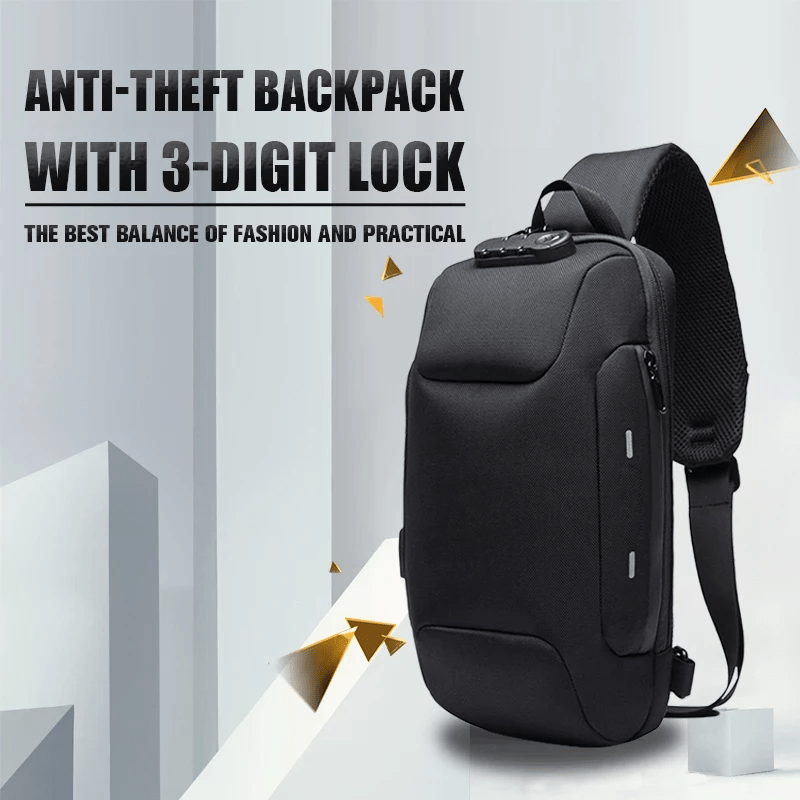 Lelysa Black EPAC™ 2019 Anti-theft Backpack With 3-Digit Lock