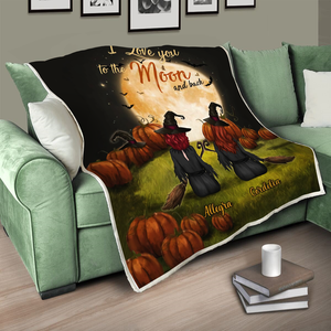 Customized Halloween Blanket - Love you my best friend, my sister