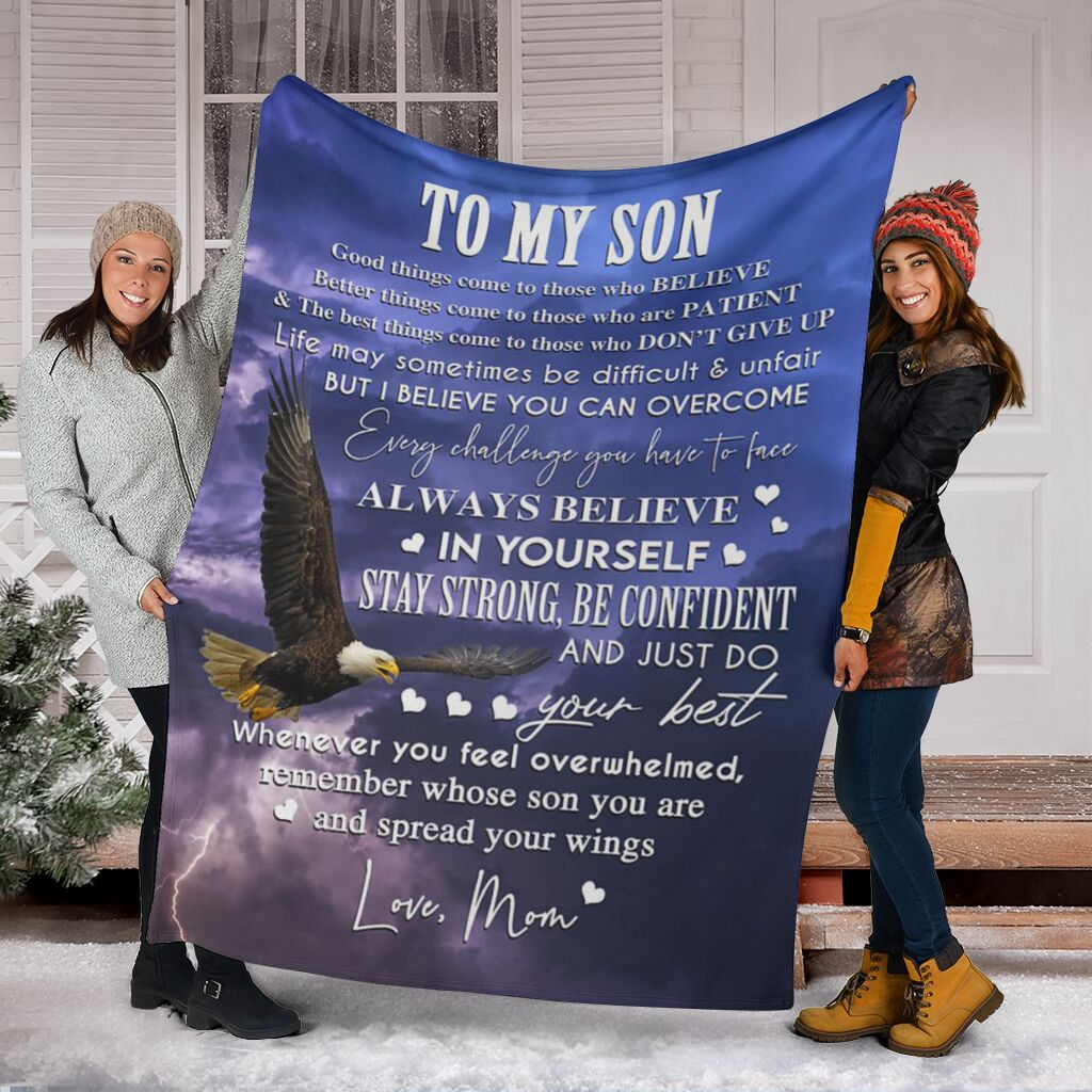 To my son (from mom) - Fleece Blanket