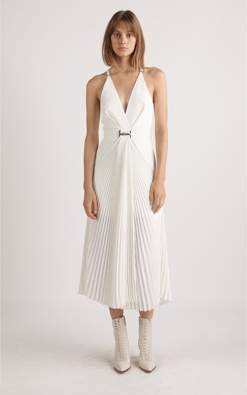 DION LEE SUSPEND SUNRAY PLEAT DRESS