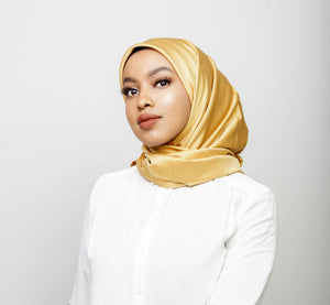 Gold Satin hijab