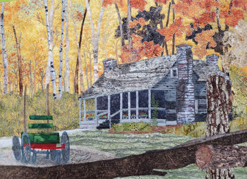 Landscape Quilts with Wooden Buildings