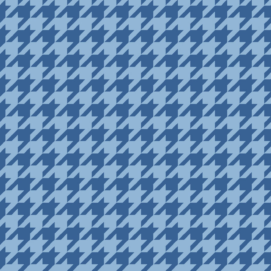 Blue Tonal Houndstooth