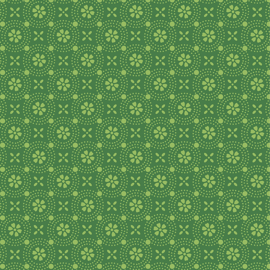 Green Dotted Circles