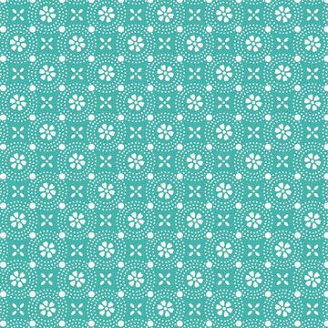 Teal Dotted Circles