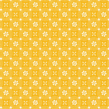 Yellow Dotted Circles