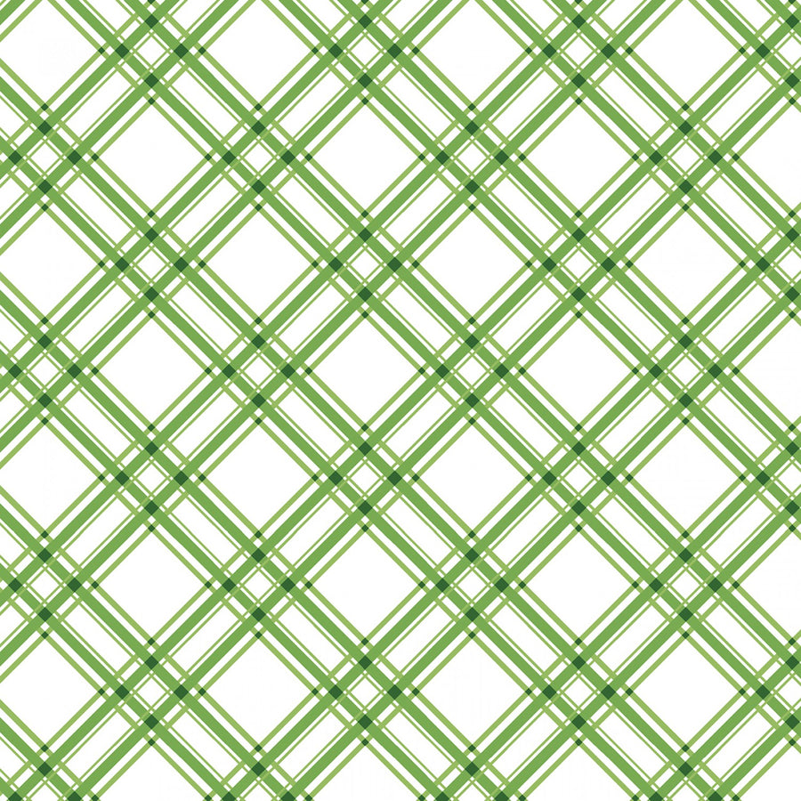 Green Diagonal Plaid
