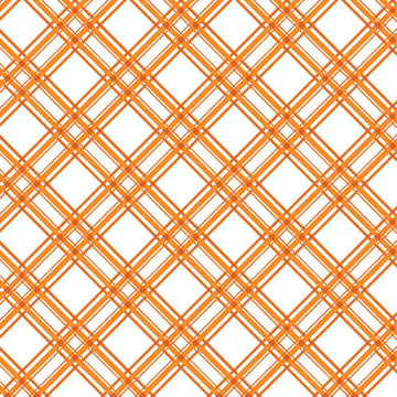 Orange Diagonal Plaid