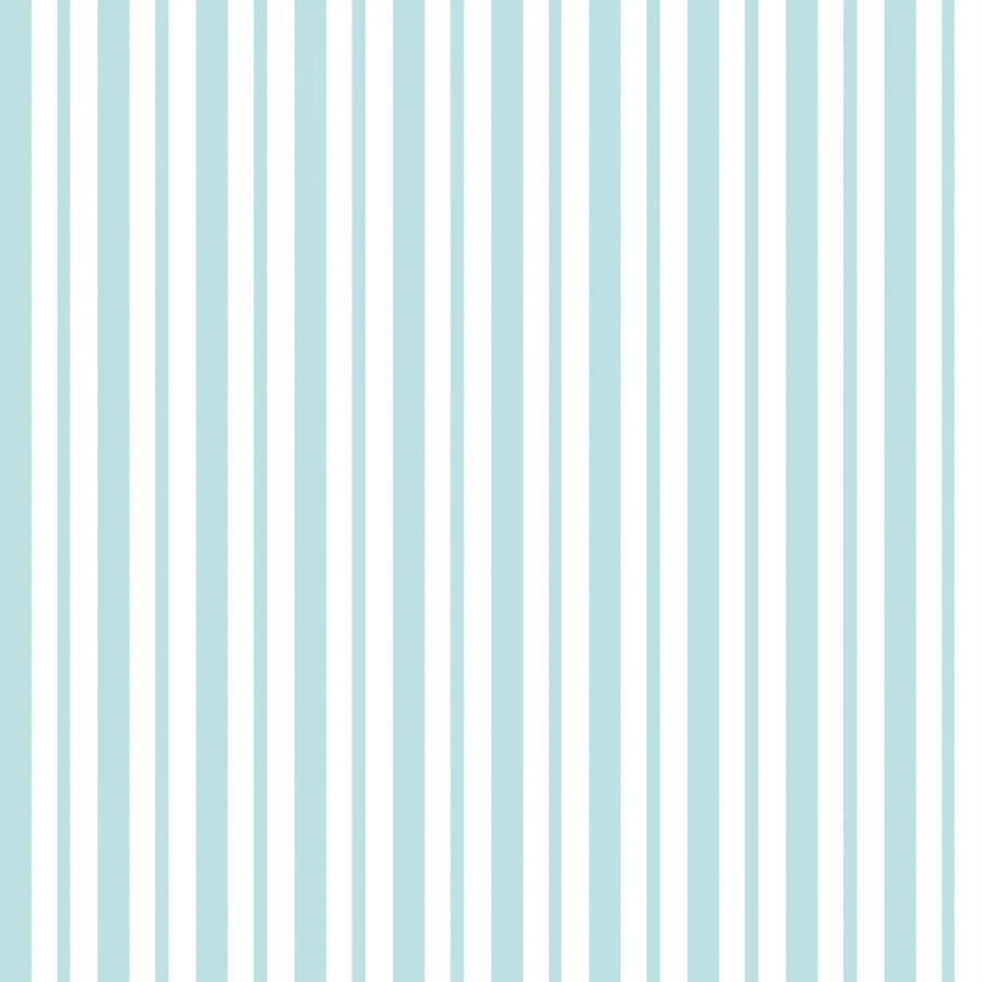 Teal Mini Awning Stripe