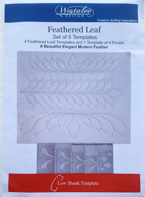 Feathered Leaf Template - Low