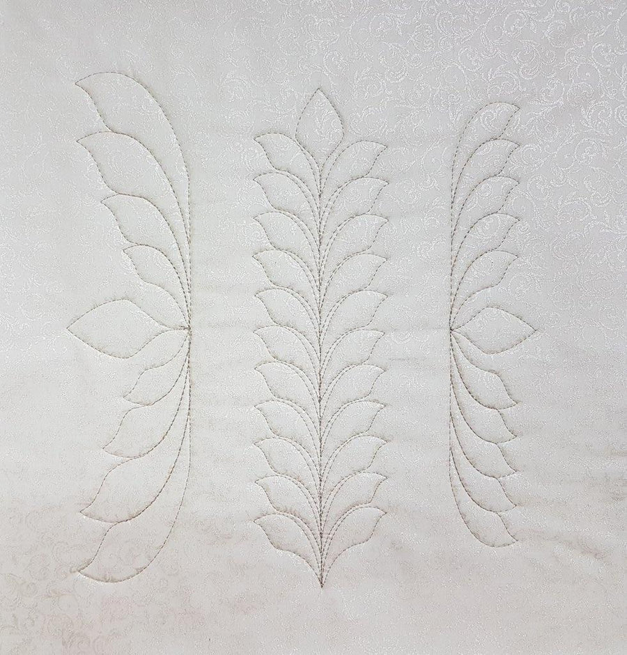 Feathered Leaf Template - High