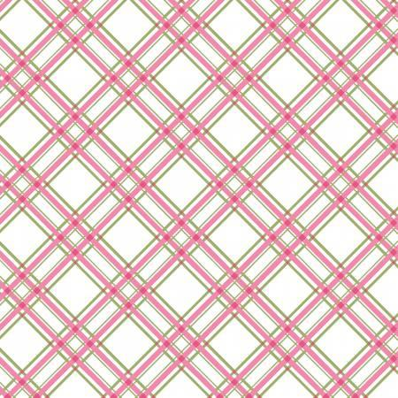 Pink Diagonal Plaid