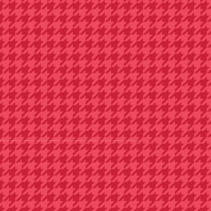 Red Tonal Houndstooth