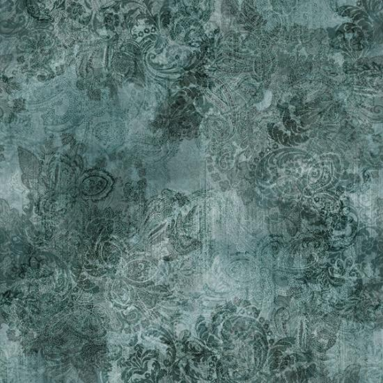 Paisley Dusty Teal