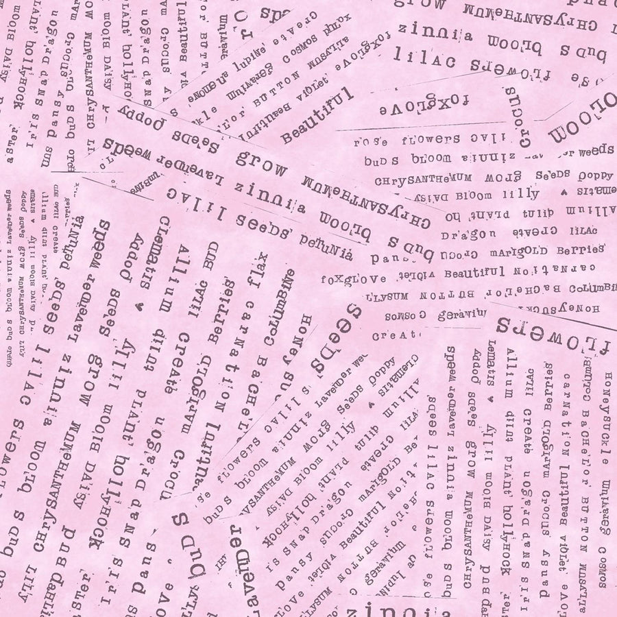 Potpourri Words Pink