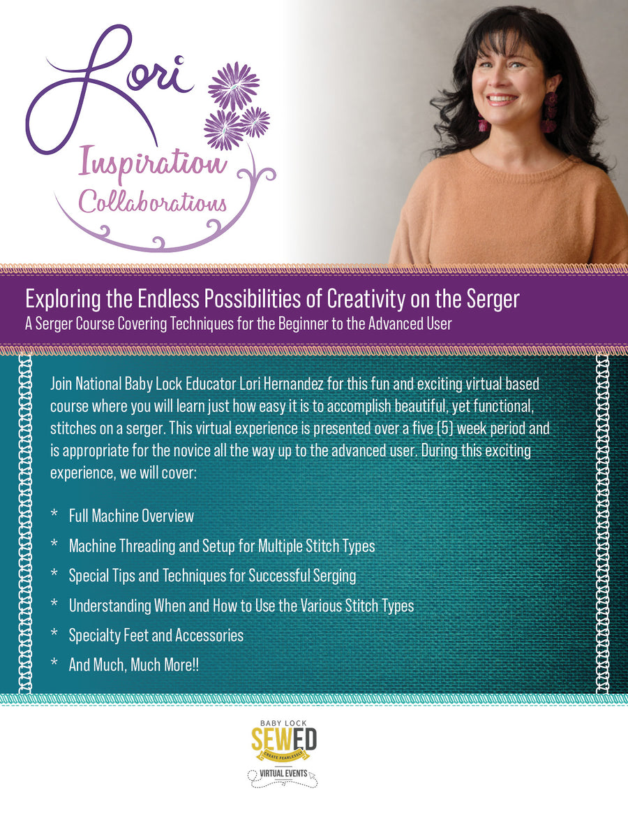 Virtual Serger Event with Lori Hernandez