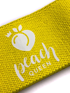 Yellow Long Resistance Band (Medium) - Peach Queen