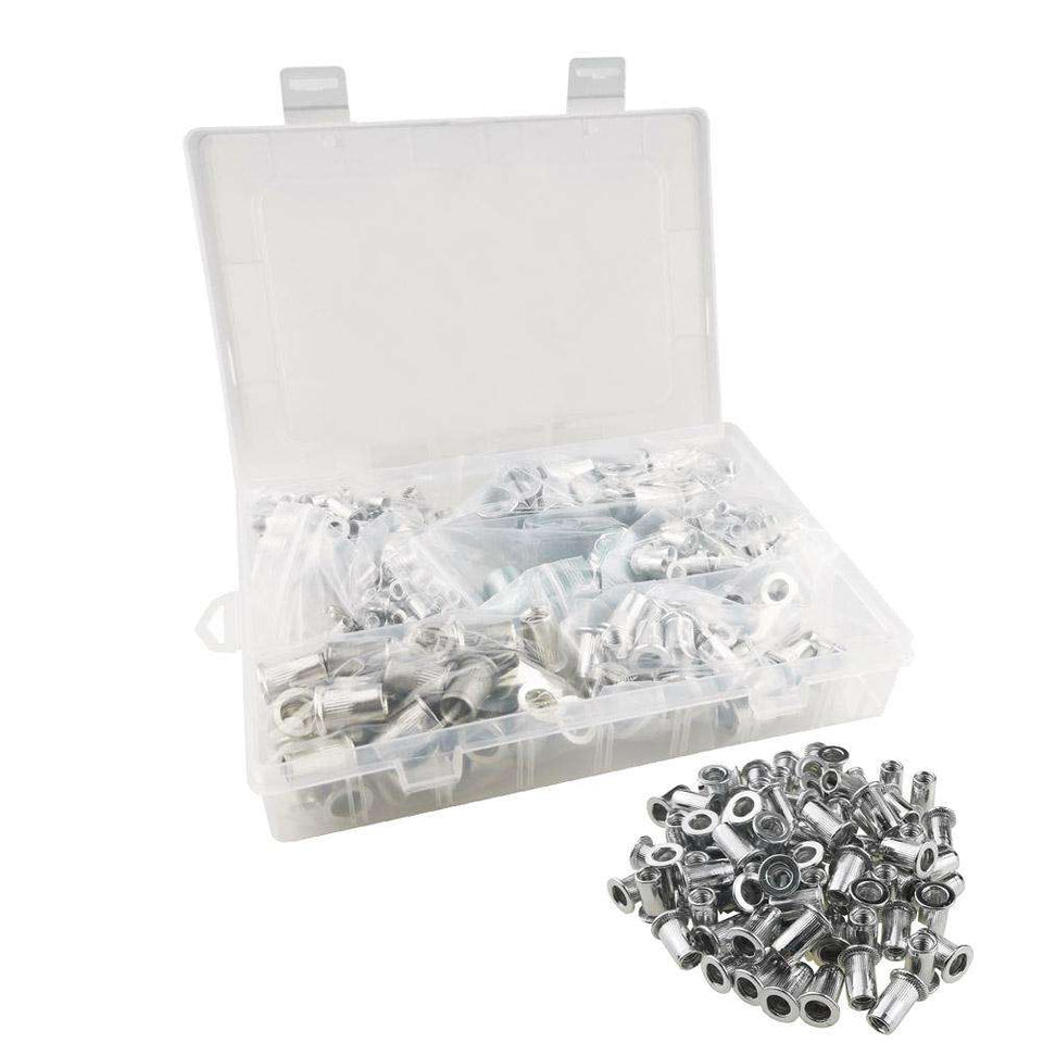 300pcs Rivet Nuts | Galvanized Carbon Steel, Stainless Steel, or Aluminum | SAE or Metric