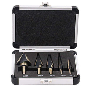Hybrid Hex 5pc Carbon Coated Drill Bit Set