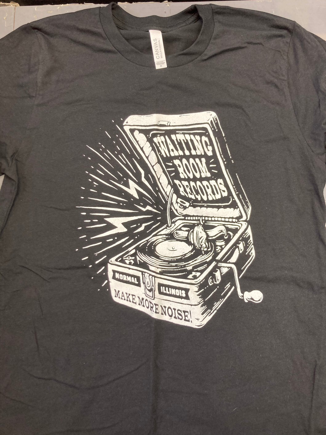 Waiting Room Records T-shirt- Turntable Design