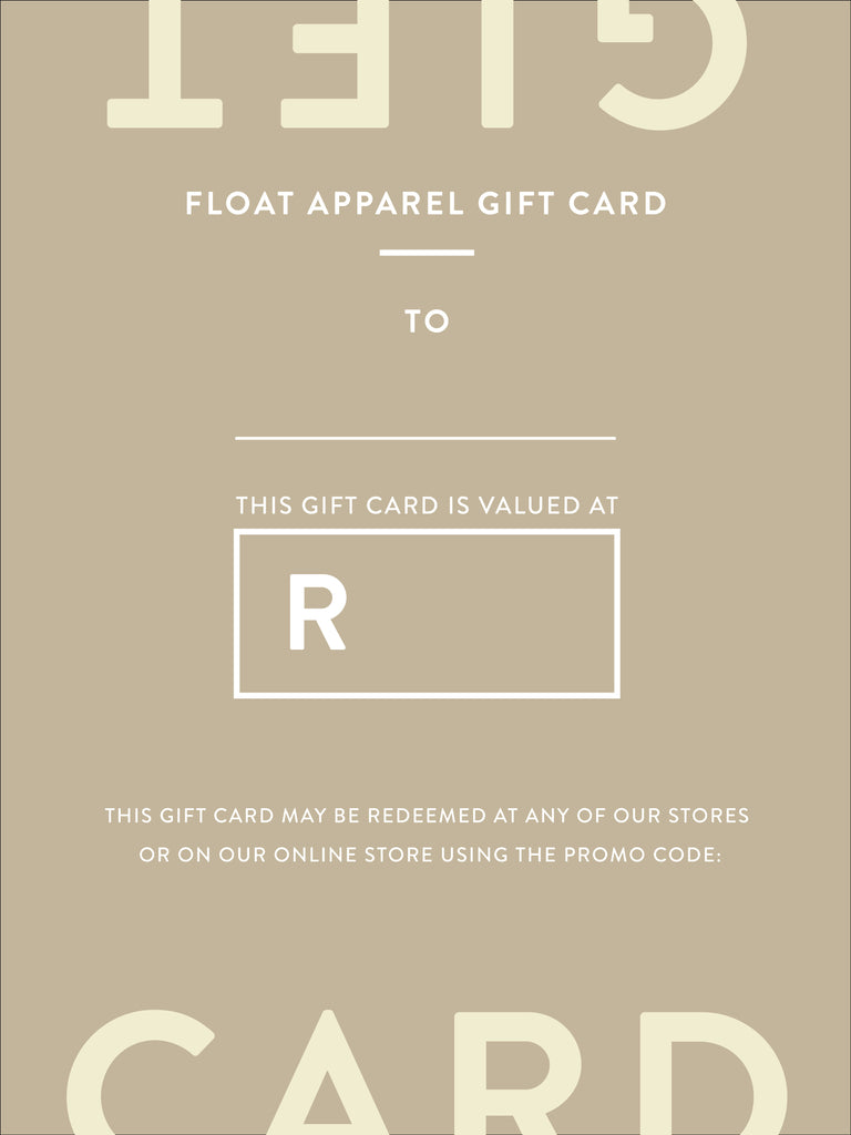 Float Apparel Gift Card