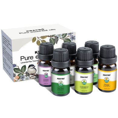 Essential Oils Aromatherapy Oil for aroma Diffuser Humidifier 6 Kinds Fragrance of Lavender Tea Tree Rosemary Lemongrass Orange - Organic Youth & Beauty [100% Quality Guaranteed] Shop Now