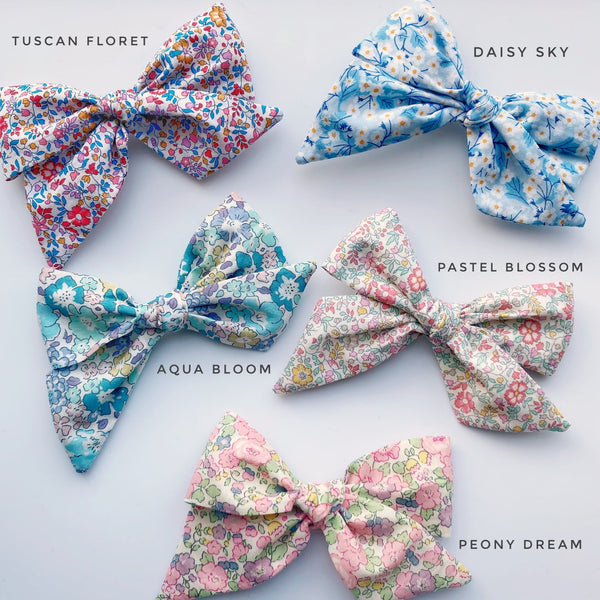 Liberty floral bow