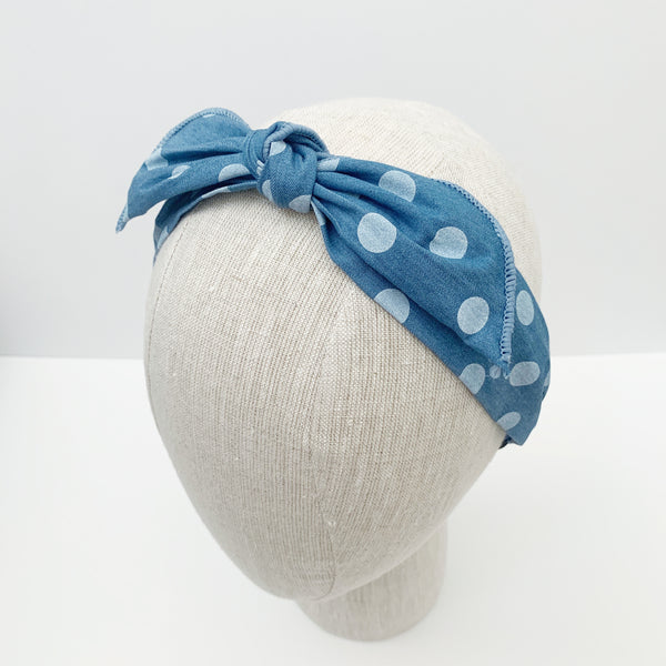 samantha light denim polka dots