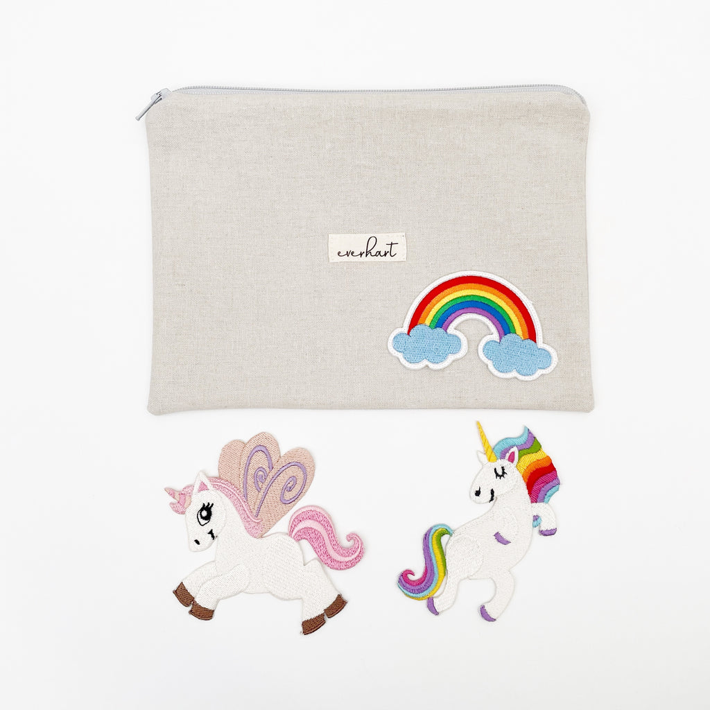 unicorns and rainbow patches