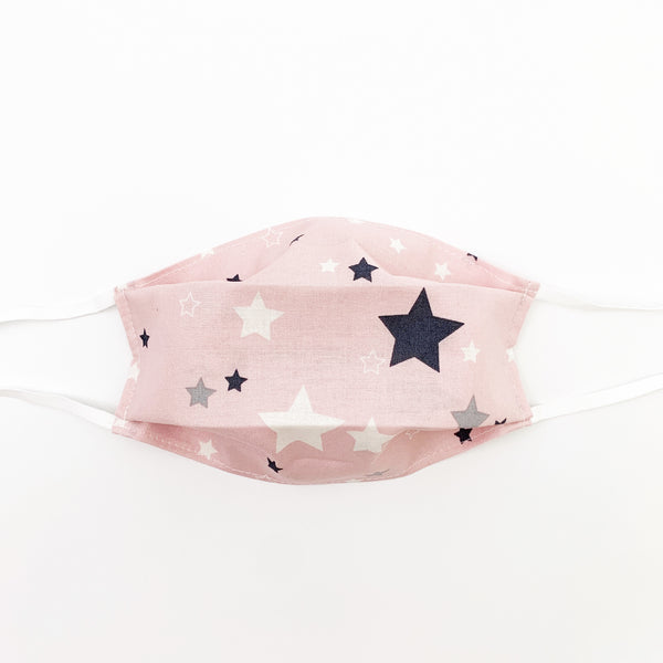 Adult mask - pink stars