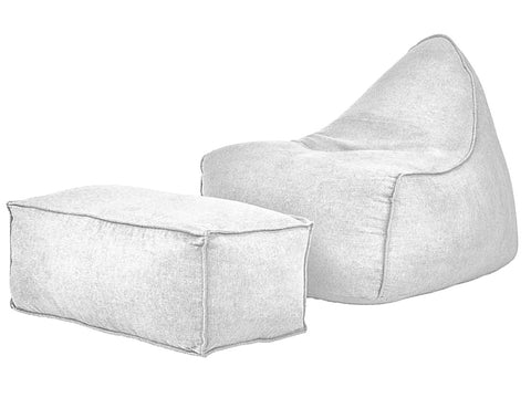 Slant soft chair + ottoman