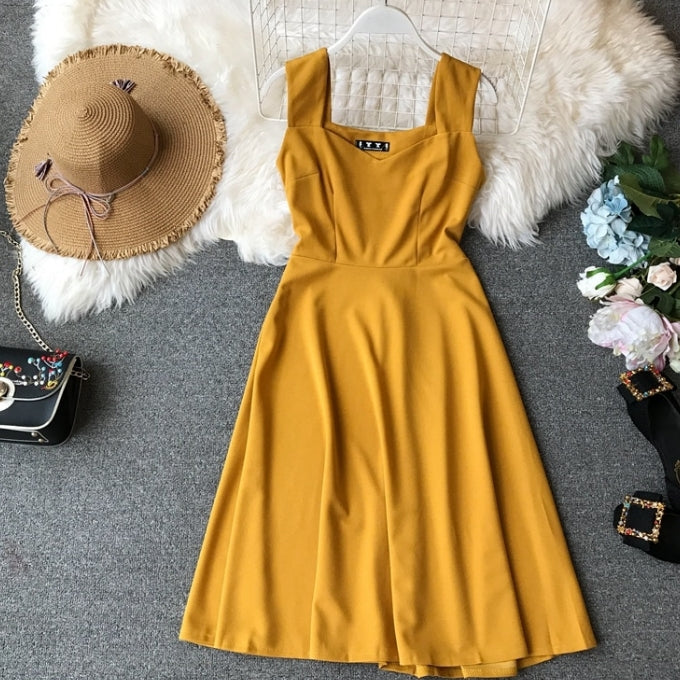 2019 New Trend Fashion Women's Clothing Dress Summer High Waist
