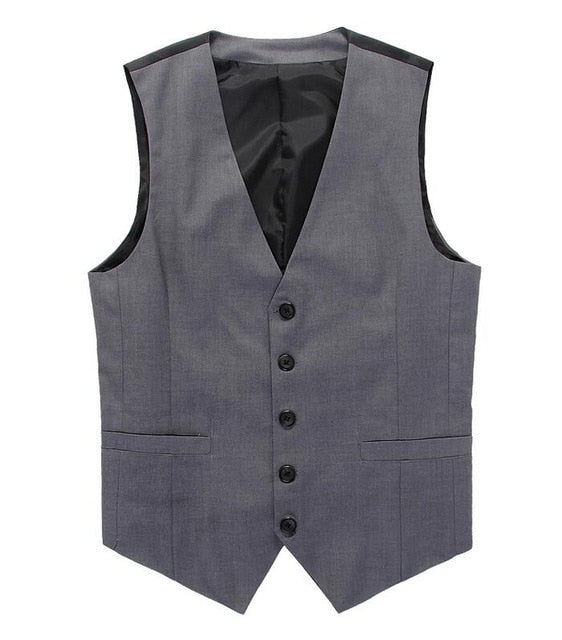 Men's Vest Suit Classic for Elegant Businessman's