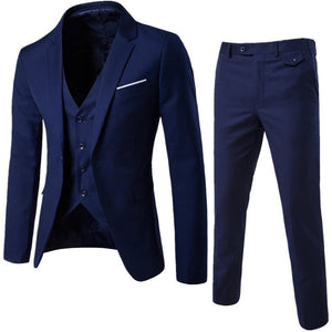 Fashion Style - Man Suit Business Formal Leisure Dress - Cut Slim Fit -Completed of Gilet